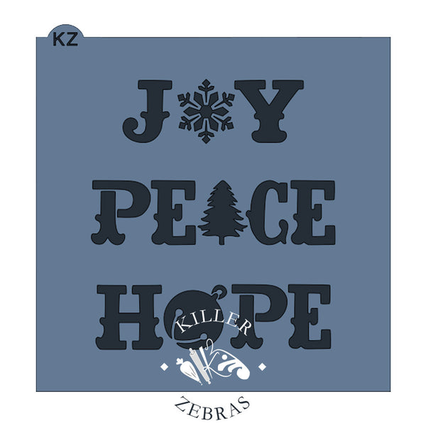 Joy Peace Hope Typography
