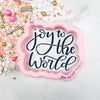 Joy to the World Hand Lettered