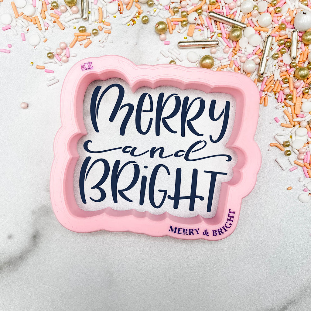 Merry and Bright Hand Lettered