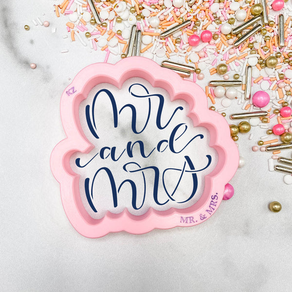 Mr. & Mrs. Hand Lettered (Style 3)