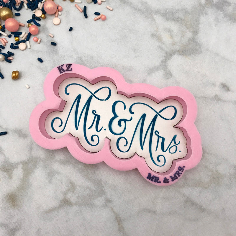 Mr. & Mrs. Hand Lettered (Style 1)