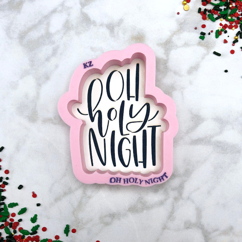 Oh Holy Night Hand Lettered