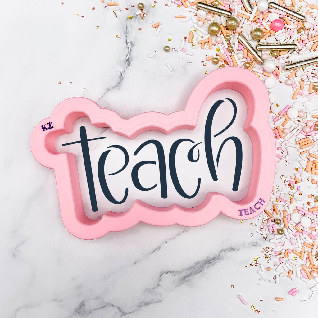 Teach Hand Lettered