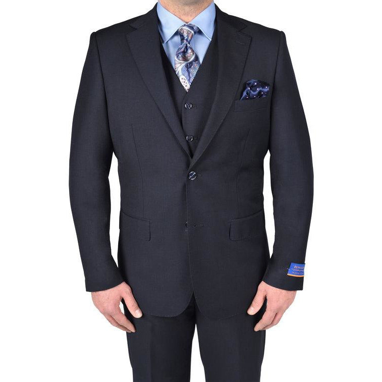 BERRAGAMO NAVY MODERN FIT SUIT