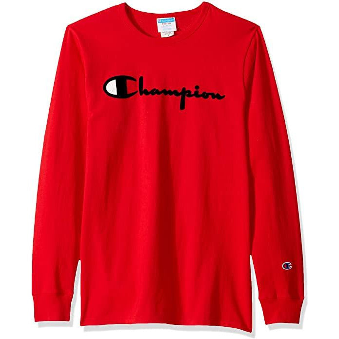 CHAMPION LS HERITAGE TEE - TEAM RED