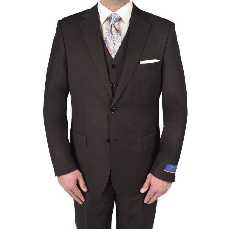 BERRAGAMO DARK BROWN MODERN FIT SUIT