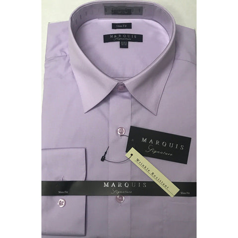 MARQUIS LILAC SLIM FIT SOLID DRESS SHIRT