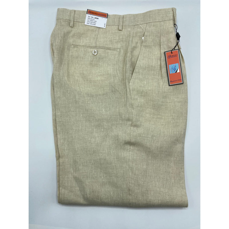 SERGIO MARTINI MEN'S BIG & TALL LINEN PANT NATURAL
