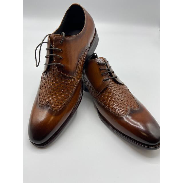 CARRUCCI WINGTIP LACE UP SHOE COGNAC-BLACK FRIDAY SPECIAL