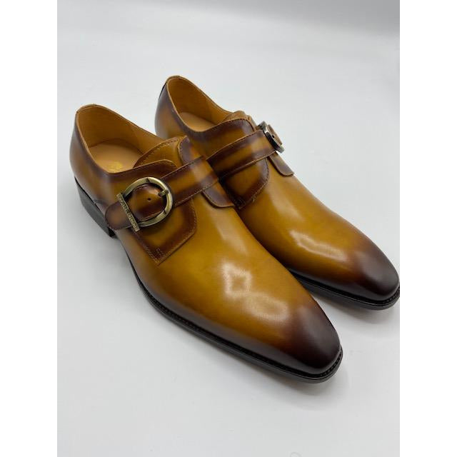 CARRUCCI MONK STRAP SHOE COGNAC-BLACK FRIDAY SPECIAL