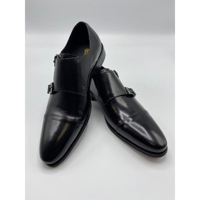 CARRUCCI DOUBLE BUCKLE CAP TOE SHOE BLACK-BLACK FRIDAY SPECIAL