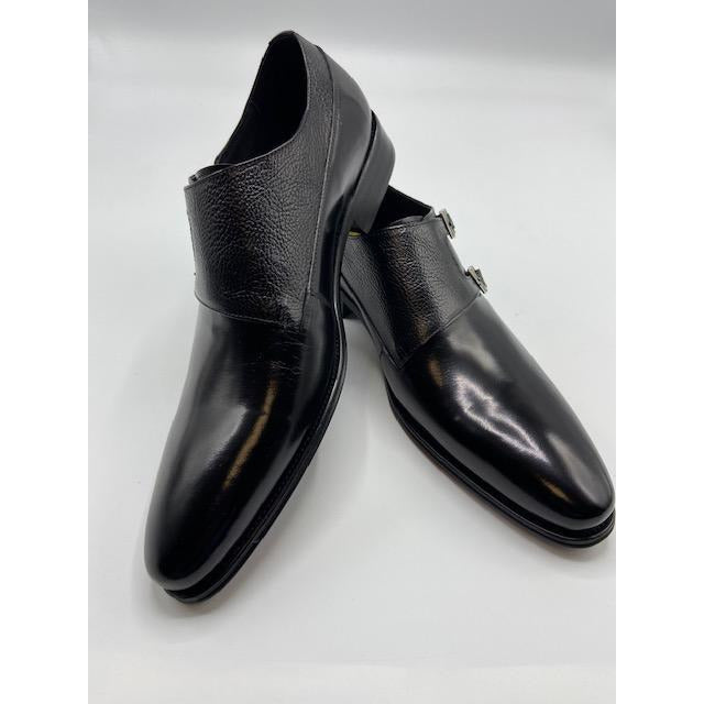 CARRUCCI DOUBLE BUCKLE SHOE BLACK-BLACK FRIDAY SPECIAL