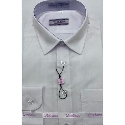 STEFANO BOYS DRESS SHIRT 8-20 WHITE