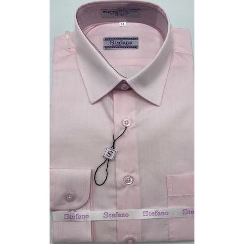 STEFANO BOYS DRESS SHIRT 8-20 PINK