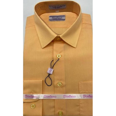 STEFANO BOYS DRESS SHIRT 8-20 PEACH
