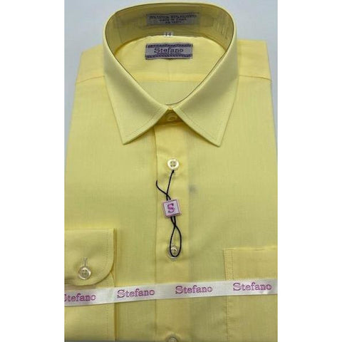 STEFANO BOYS DRESS SHIRT 8-20 LEMON