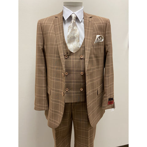 MAZZARI PLAID SUIT PUMPKIN - BUY ONE SUIT, GET ONE FREE