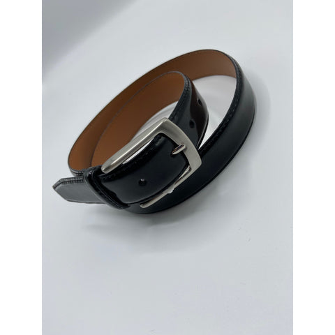 BELT - LUSTER LEATHER BELT BLACK