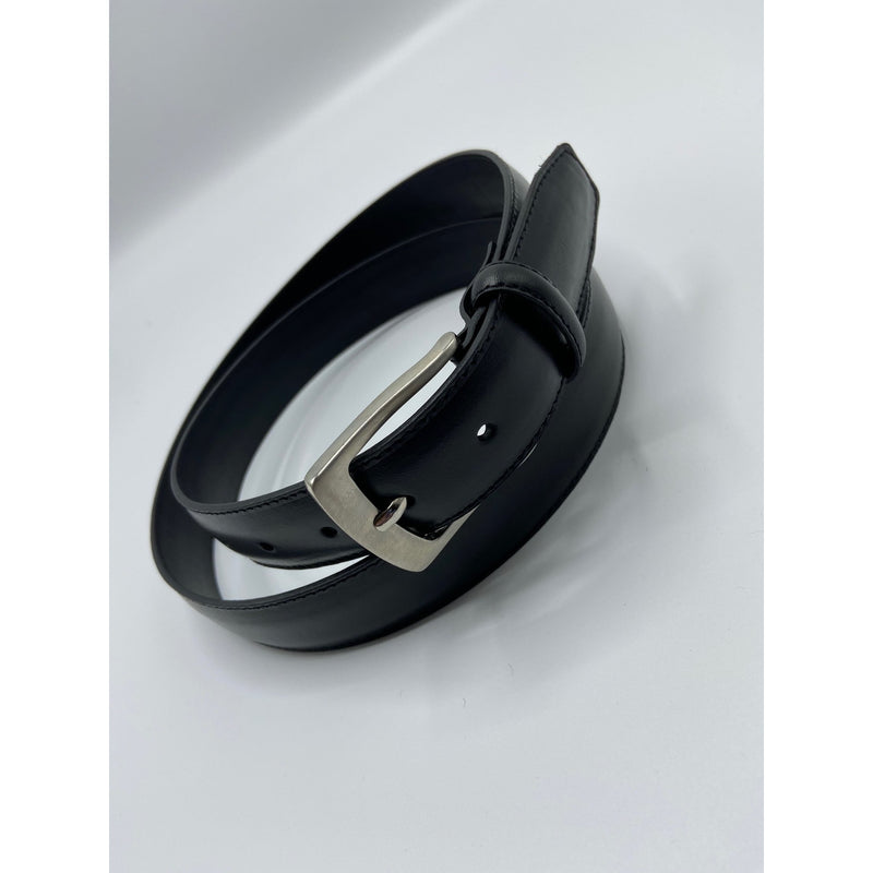 BELT - SMOOTH GRAIN LEATHER BLACK