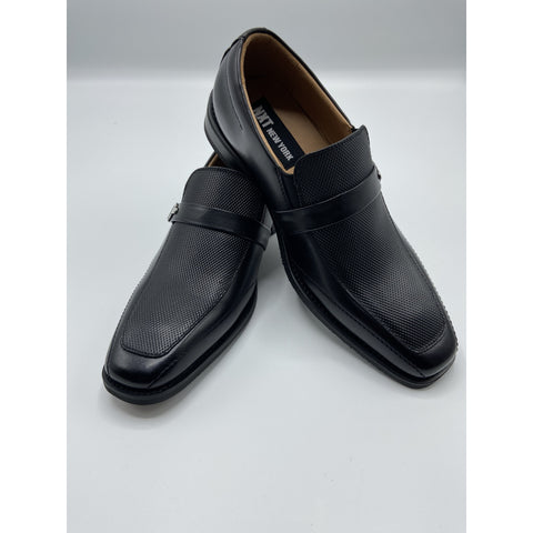 SIDE BUCKLE SLIP ON DRESS SHOE BLACK