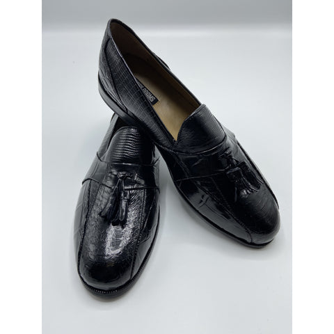 ALBERTO BIKE TOE TASSEL SLIP -ON SHOE BLACK