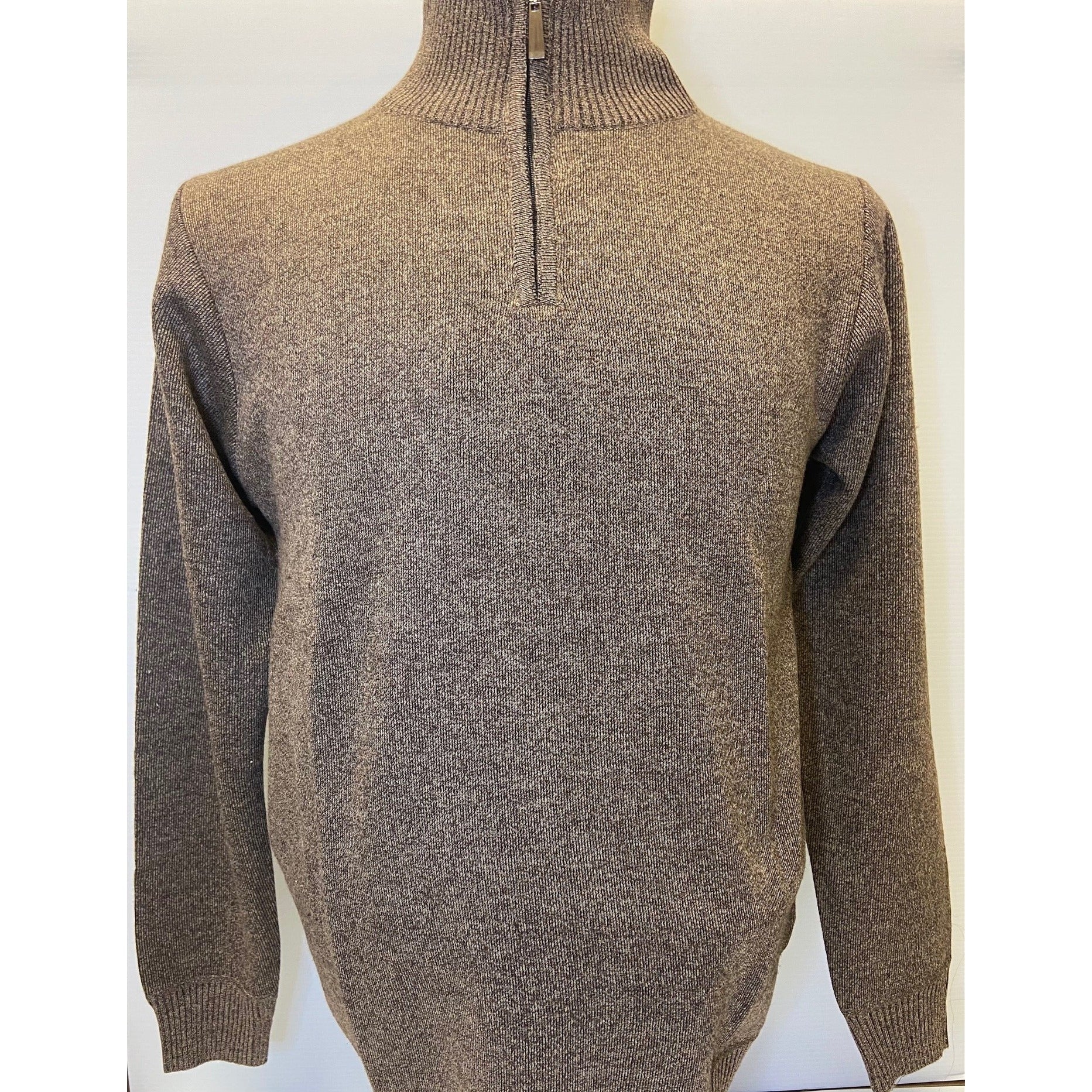 BILLY LONDON 1/4 ZIP SOLID SWEATER