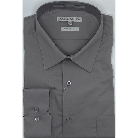 ASSANTE MODERN FIT DRESS SHIRT SILVER