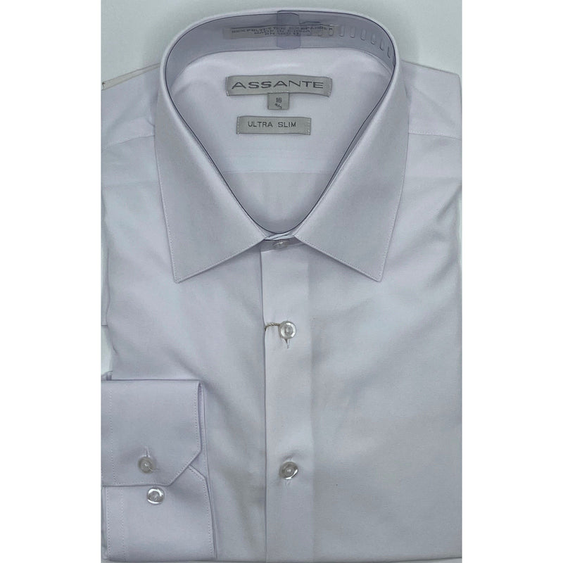 ASSANTE ULTRA SLIM DRESS SHIRT WHITE
