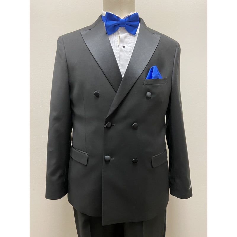 WEST END DOUBLE BREASTED SLIM FIT TUX BLACK