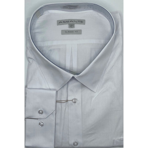 ASSANTE SOLID DRESS SHIRT WHITE
