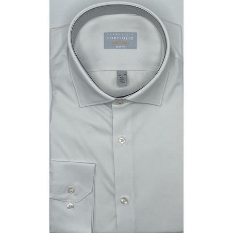 SLIM FIT TECH DRESS SHIRT WHITE