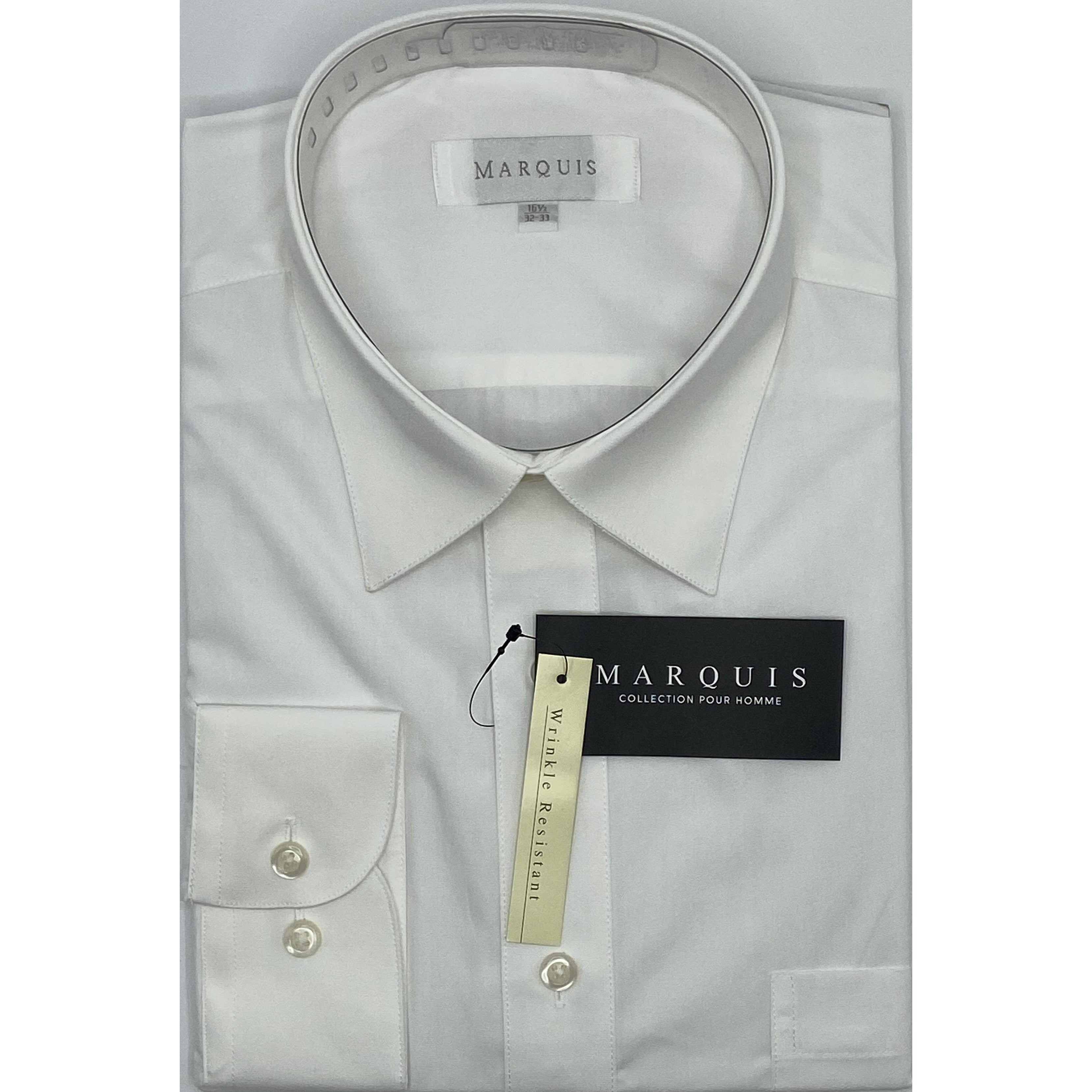 MARQUIS ECRU SLIM FIT SOLID DRESS SHIRT