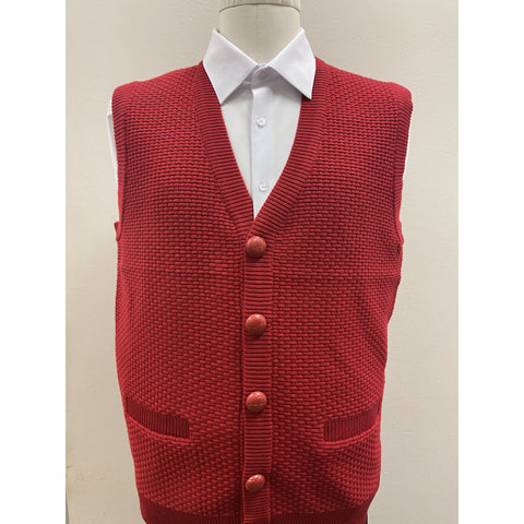 BAGAZIO SLEEVELESS SWEATER VEST RED