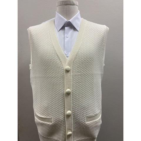 BAGAZIO SLEEVELESS SWEATER VEST IVORY