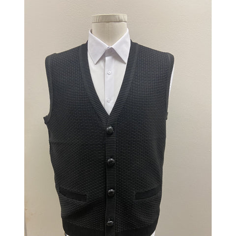 BAGAZIO SLEEVELESS SWEATER VEST BLACK