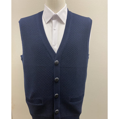 BAGAZIO SLEEVELESS SWEATER VEST NAVY