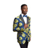 Modern Fit Shiny Floral Satin Peak Lapel Mens Sports coat Jacket For Men