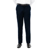 Demantie Indigo Performance Stretch Wool Dress Pants For Men