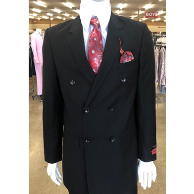 MAZZARI DOUBLE BREASTED SUIT BLACK