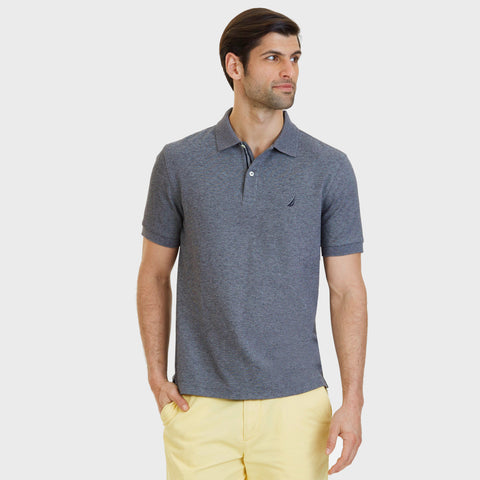 NAUTICA BIG & TALL POLO - CHARCOAL