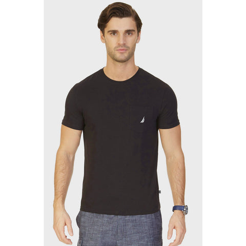 NAUTICA BIG & TALL TEES -TRUE BLACK