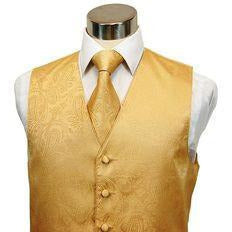 LUXURIOUS GOLD PAISLEY VEST SET
