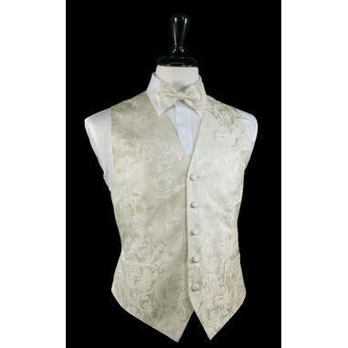 LUXURIOUS IVORY PAISLEY VEST SET