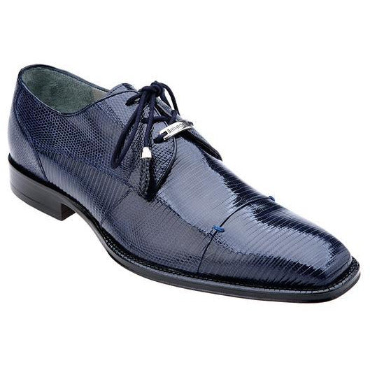 BELVEDERE KARMELLO LIZARD LACE UP SHOE NAVY