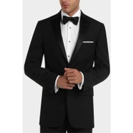 BOLZANO BLACK MODERN FIT NOTCH LAPEL TUXEDO