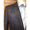 Nevima Jacket - Brown/Blue Plaid