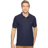 U.S. POLO BIG & TALL COLLARED SHORT SLEEVE POLO - NAVY