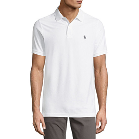 U.S. POLO BIG & TALL COLLARED SHORT SLEEVE POLO WHITE