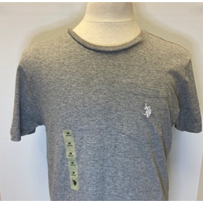 U.S. POLO SHORT SLEEVE T-SHIRT - H.GREY