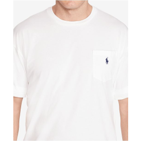 U.S. POLO BIG & TALL SHORT SLEEVE T-SHIRT - WHITE